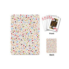 Flower Star Rose Sunflower Rainbow Smal Playing Cards (mini)  by Mariart