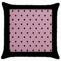 Love Black Pink Valentine Throw Pillow Case (black) by Mariart