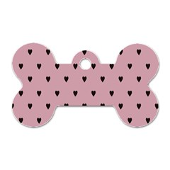 Love Black Pink Valentine Dog Tag Bone (two Sides) by Mariart