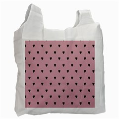 Love Black Pink Valentine Recycle Bag (one Side) by Mariart