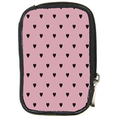 Love Black Pink Valentine Compact Camera Cases by Mariart