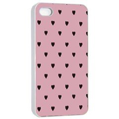 Love Black Pink Valentine Apple Iphone 4/4s Seamless Case (white) by Mariart