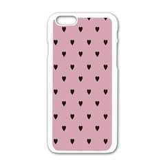 Love Black Pink Valentine Apple Iphone 6/6s White Enamel Case by Mariart