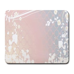 Love Heart Flower Purple Sexy Rose Large Mousepads by Mariart