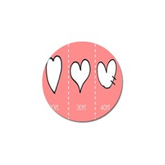 Love Heart Valentine Pink White Sexy Golf Ball Marker (4 Pack) by Mariart