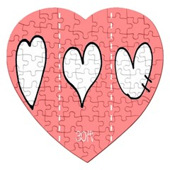 Love Heart Valentine Pink White Sexy Jigsaw Puzzle (heart)