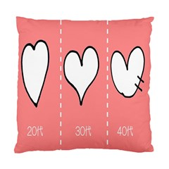 Love Heart Valentine Pink White Sexy Standard Cushion Case (two Sides) by Mariart