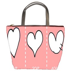 Love Heart Valentine Pink White Sexy Bucket Bags by Mariart