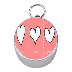 Love Heart Valentine Pink White Sexy Mini Silver Compasses by Mariart