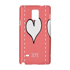 Love Heart Valentine Pink White Sexy Samsung Galaxy Note 4 Hardshell Case by Mariart