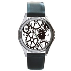 Machine Iron Maintenance Round Metal Watch by Mariart