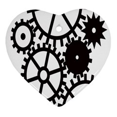 Machine Iron Maintenance Ornament (heart) by Mariart