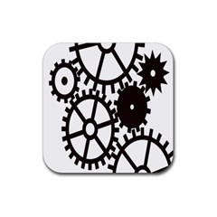 Machine Iron Maintenance Rubber Square Coaster (4 Pack)  by Mariart