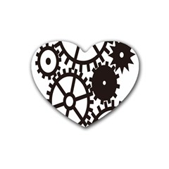 Machine Iron Maintenance Heart Coaster (4 Pack)  by Mariart