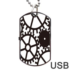 Machine Iron Maintenance Dog Tag Usb Flash (two Sides) by Mariart