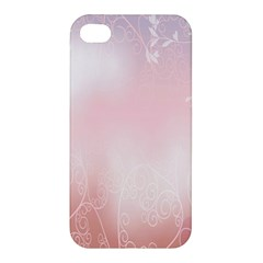 Love Heart Pink Valentine Flower Leaf Apple Iphone 4/4s Hardshell Case by Mariart