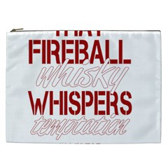 Fireball Whiskey Humor  Cosmetic Bag (xxl)  by crcustomgifts
