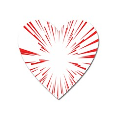Line Red Sun Arrow Heart Magnet by Mariart