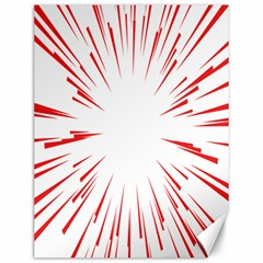 Line Red Sun Arrow Canvas 12  X 16   by Mariart