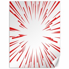 Line Red Sun Arrow Canvas 36  X 48   by Mariart