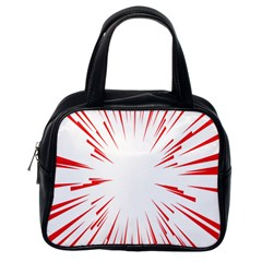 Line Red Sun Arrow Classic Handbags (one Side) by Mariart