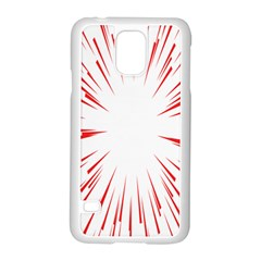 Line Red Sun Arrow Samsung Galaxy S5 Case (white) by Mariart