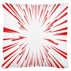 Line Red Sun Arrow Standard Flano Cushion Case (one Side) by Mariart