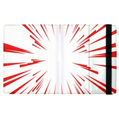 Line Red Sun Arrow Apple Ipad Pro 9 7   Flip Case by Mariart