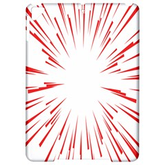 Line Red Sun Arrow Apple Ipad Pro 9 7   Hardshell Case by Mariart