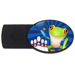 Tree Frog Bowling Usb Flash Drive Oval (4 Gb) by crcustomgifts