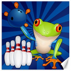 Tree Frog Bowling Canvas 12  X 12   by crcustomgifts