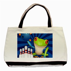 Tree Frog Bowling Basic Tote Bag (two Sides) by crcustomgifts