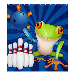 Tree Frog Bowling Shower Curtain 66  X 72  (large)  by crcustomgifts