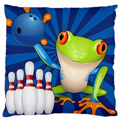 Tree Frog Bowling Large Cushion Case (two Sides) by crcustomgifts
