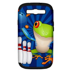 Tree Frog Bowling Samsung Galaxy S Iii Hardshell Case (pc+silicone) by crcustomgifts