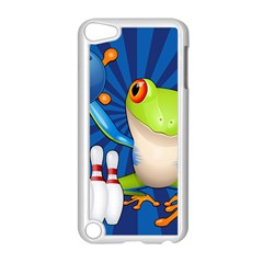 Tree Frog Bowling Apple Ipod Touch 5 Case (white) by crcustomgifts