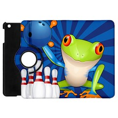 Tree Frog Bowling Apple Ipad Mini Flip 360 Case by crcustomgifts