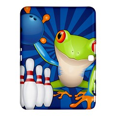 Tree Frog Bowling Samsung Galaxy Tab 4 (10 1 ) Hardshell Case  by crcustomgifts