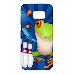 Tree Frog Bowling Samsung Galaxy S7 Edge Hardshell Case by crcustomgifts