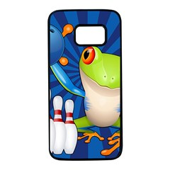 Tree Frog Bowling Samsung Galaxy S7 Black Seamless Case by crcustomgifts