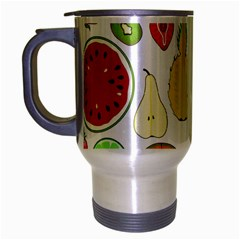 Mango Fruit Pieces Watermelon Dragon Passion Fruit Apple Strawberry Pineapple Melon Travel Mug (silver Gray)