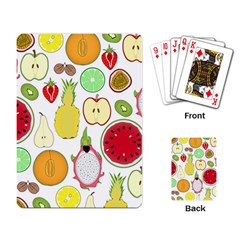 Mango Fruit Pieces Watermelon Dragon Passion Fruit Apple Strawberry Pineapple Melon Playing Card by Mariart
