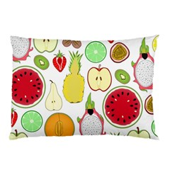 Mango Fruit Pieces Watermelon Dragon Passion Fruit Apple Strawberry Pineapple Melon Pillow Case by Mariart