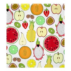 Mango Fruit Pieces Watermelon Dragon Passion Fruit Apple Strawberry Pineapple Melon Shower Curtain 66  X 72  (large)  by Mariart