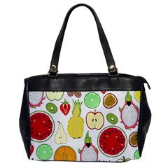 Mango Fruit Pieces Watermelon Dragon Passion Fruit Apple Strawberry Pineapple Melon Office Handbags by Mariart