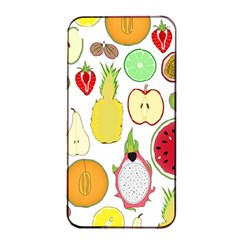 Mango Fruit Pieces Watermelon Dragon Passion Fruit Apple Strawberry Pineapple Melon Apple Iphone 4/4s Seamless Case (black) by Mariart