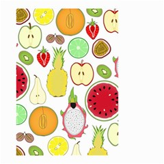Mango Fruit Pieces Watermelon Dragon Passion Fruit Apple Strawberry Pineapple Melon Small Garden Flag (two Sides) by Mariart