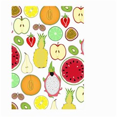 Mango Fruit Pieces Watermelon Dragon Passion Fruit Apple Strawberry Pineapple Melon Large Garden Flag (two Sides) by Mariart