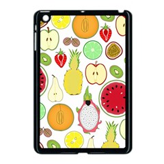 Mango Fruit Pieces Watermelon Dragon Passion Fruit Apple Strawberry Pineapple Melon Apple Ipad Mini Case (black) by Mariart