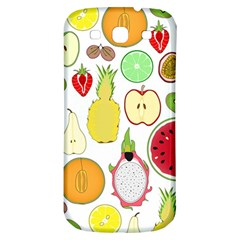 Mango Fruit Pieces Watermelon Dragon Passion Fruit Apple Strawberry Pineapple Melon Samsung Galaxy S3 S Iii Classic Hardshell Back Case by Mariart